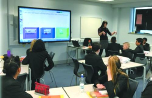 Учебный класс в школе Лондона